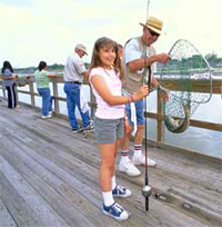 Youth learning how to fish