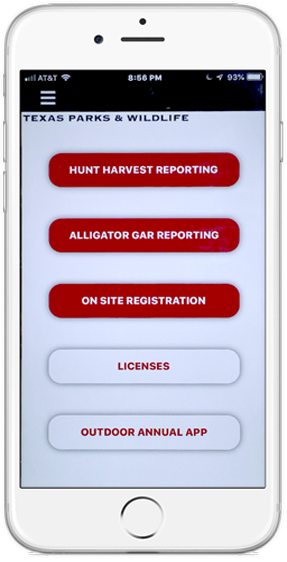 My Texas Hunt Harvest App