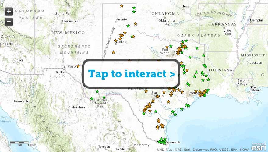 Texas Public Hunting Land Map