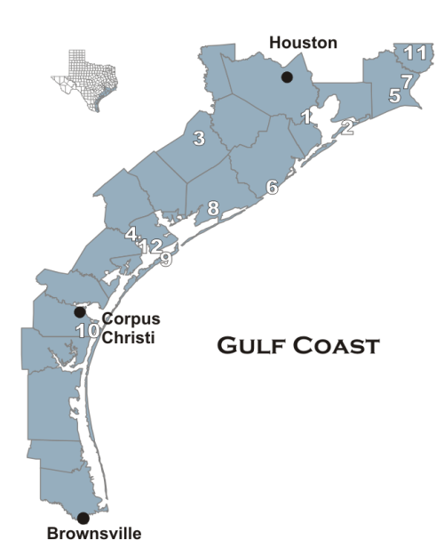 Map Of Texas Gulf Coast Cities.Tpwd Wildlife Management Areas Gulf Coast