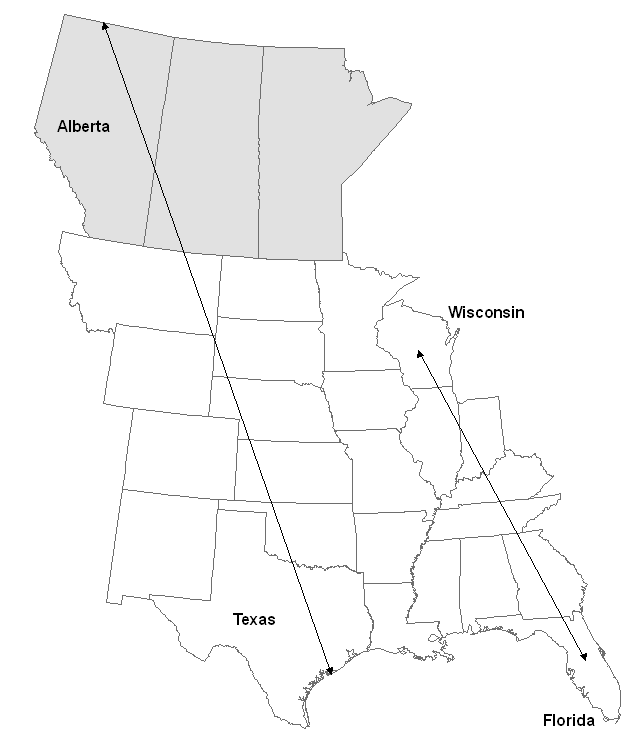 Distribution of the Whooping Crane (Grus