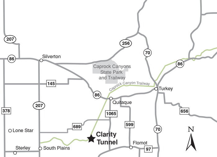 Caprock Canyon State Park Map Clarity Tunnel   Bat Watching Sites of Texas