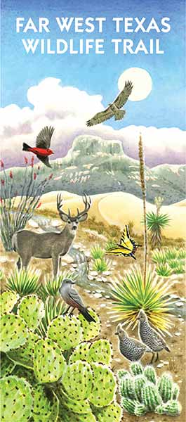 Far West Texas Wildlife Trails map