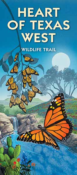 Heart of Texas West Wildlife Trails map