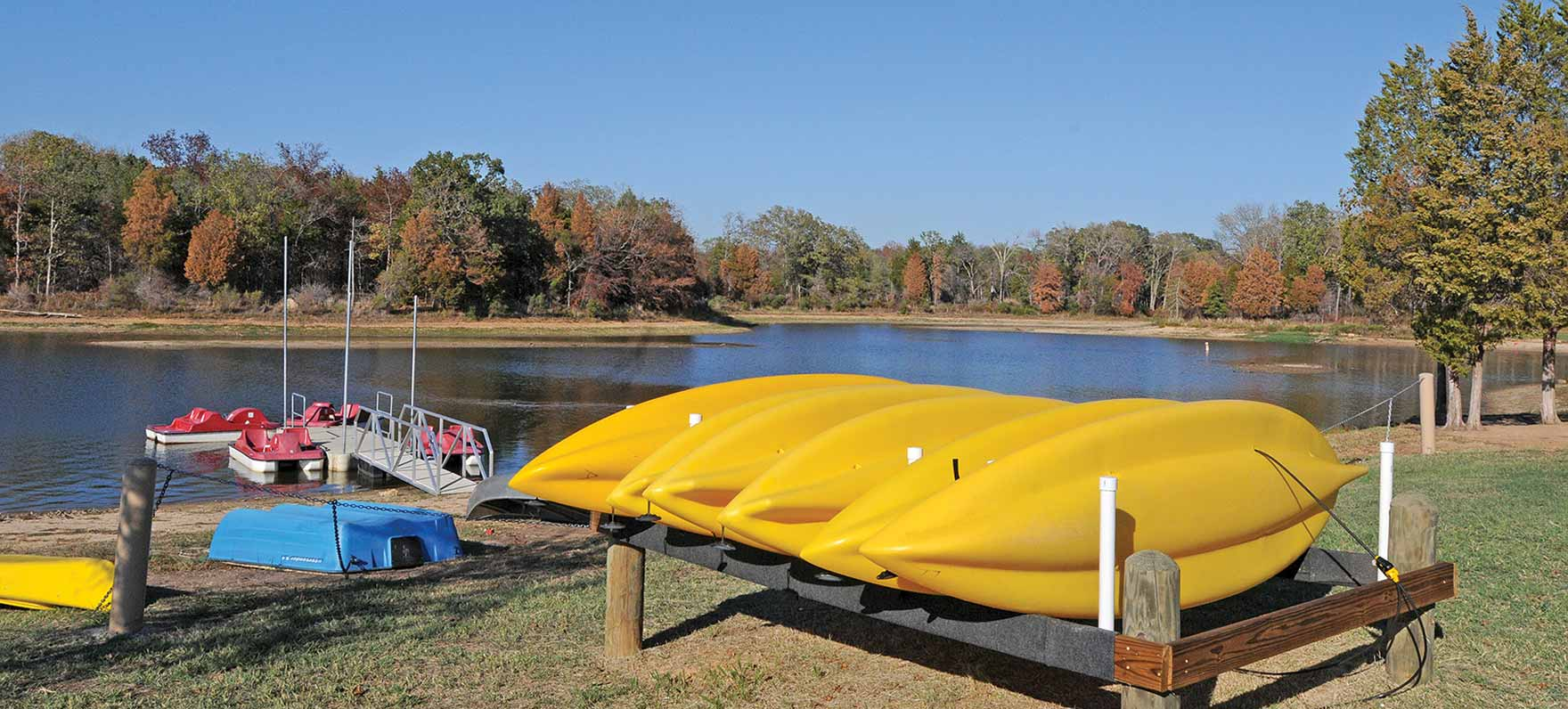 Kayak rental Purtis Creek State Park