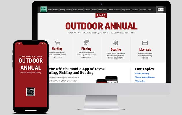 Outdoor Annual being shown on computer screen and phone