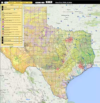 New Interactive Map of the Texas Landscape