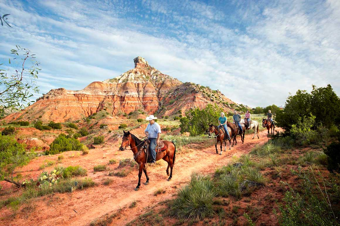 Horseback riding in Palo Duro Canyon State Park