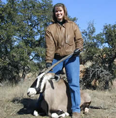 Hunter With Harvested Gemsbok