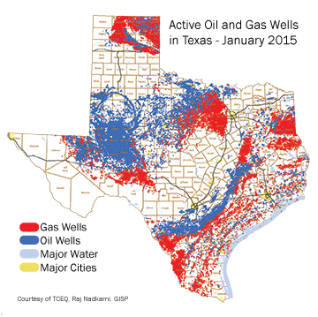 Texas Parks Wildlife Department Voluntary Conservation Practices - Oil from texas in us map