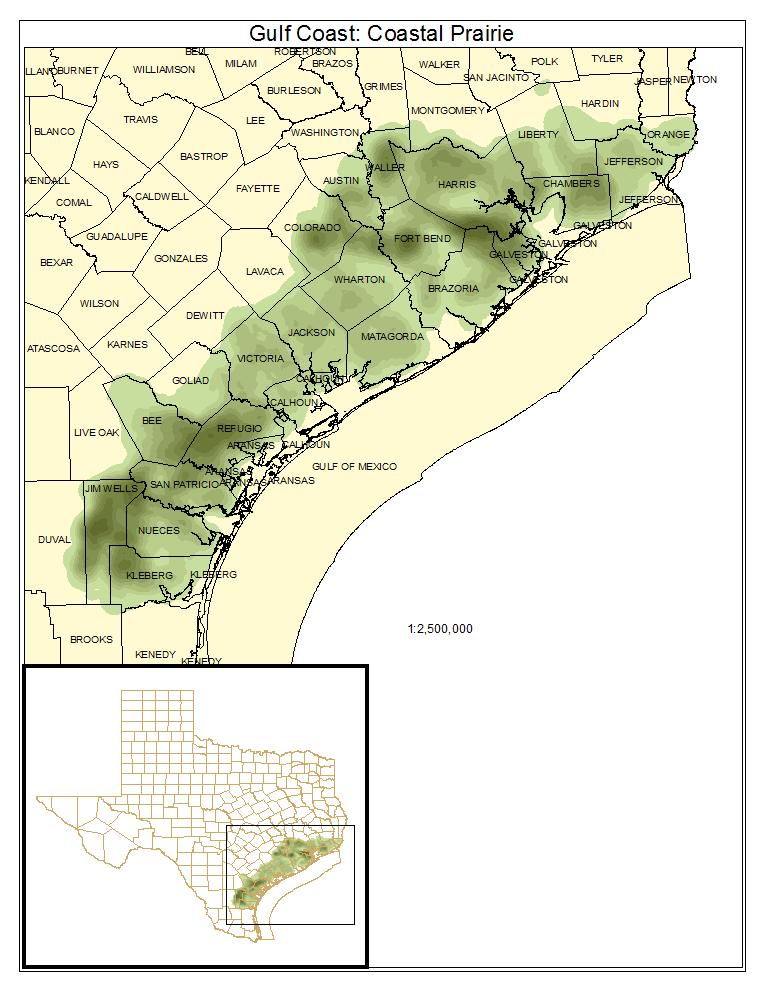 Map Of Texas Louisiana.Texas Louisiana Coastal Prairie Texas Parks Wildlife Department