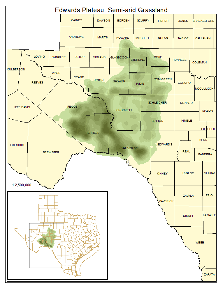 Edwards Plateau: Semi-Arid Grassland