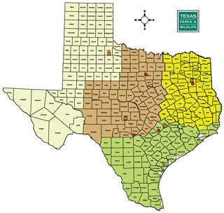 Texas Map Of Wildland Fire Staff