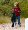 Young Girl and Her Dog at Lost Maples State Natural Area
