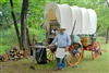 Cowboy With Chuckwagon at Abilene State Park