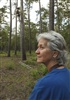 Cook's Branch Conservancy Manager Kathy Hutson Watching Biologist in Tree