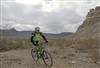 2012-02-17 Rider Near Mesa and Bridge at Big Bend Ranch SP Dirt Fest