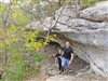 Couple Hiking at Mother Neff State Park