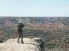 TPW Commissioner Mark Bivins of Amarillo Looks Out From the Fortress Cliffs Ranch Toward Palo Duro Canyon