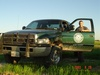 Justin Hurst and Game Warden Truck