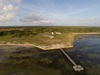 2 - Aerial Photo of Denman Family Ranch House and Pier on Matagorda Bay at Powderhorn Ranch
