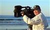 Producer Lee Smith at Sea Rim State Park Beach