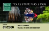 Texas State Parks Pass 2005-2006