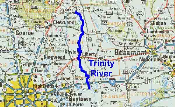 Trinity River Texas Map TPWD: