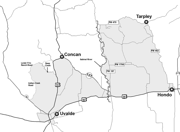 map of South Central Texas CWD Zone