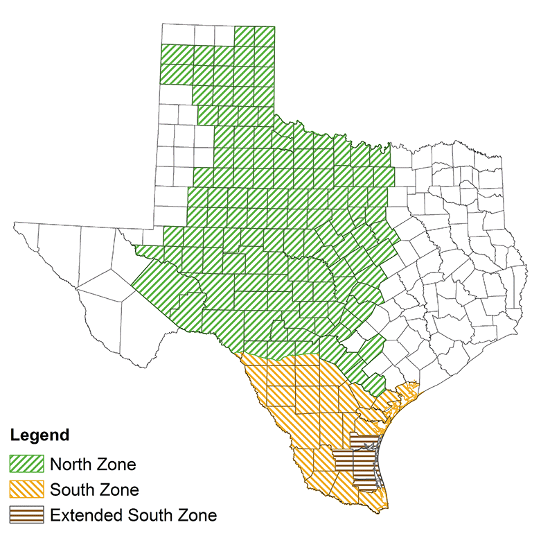 Seasons by county hunting outdoor annual tpwd texas for Texas hunting and fishing license