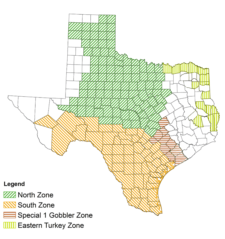 Deer hunting season texas south zone for Texas hunting and fishing license