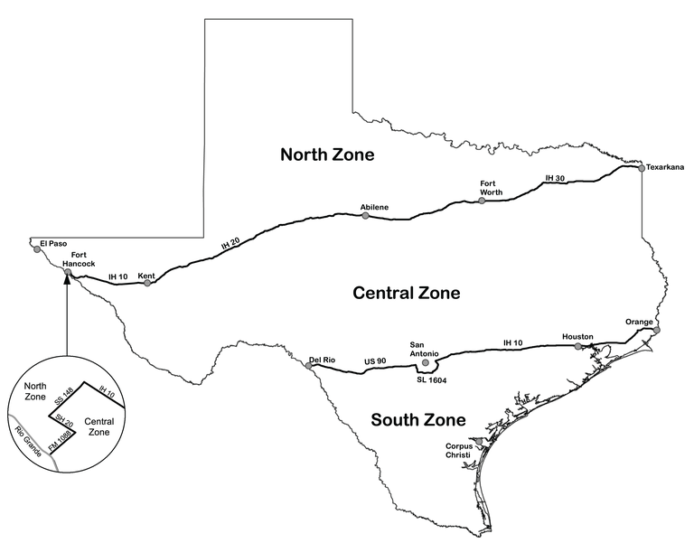 Dove hunting zone map texas parks wildlife department for Texas hunting and fishing license