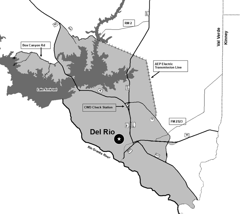 map of Val Verde CWD zone