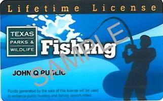 Lifetime resident fishing license