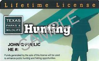 Lifetime hunting license