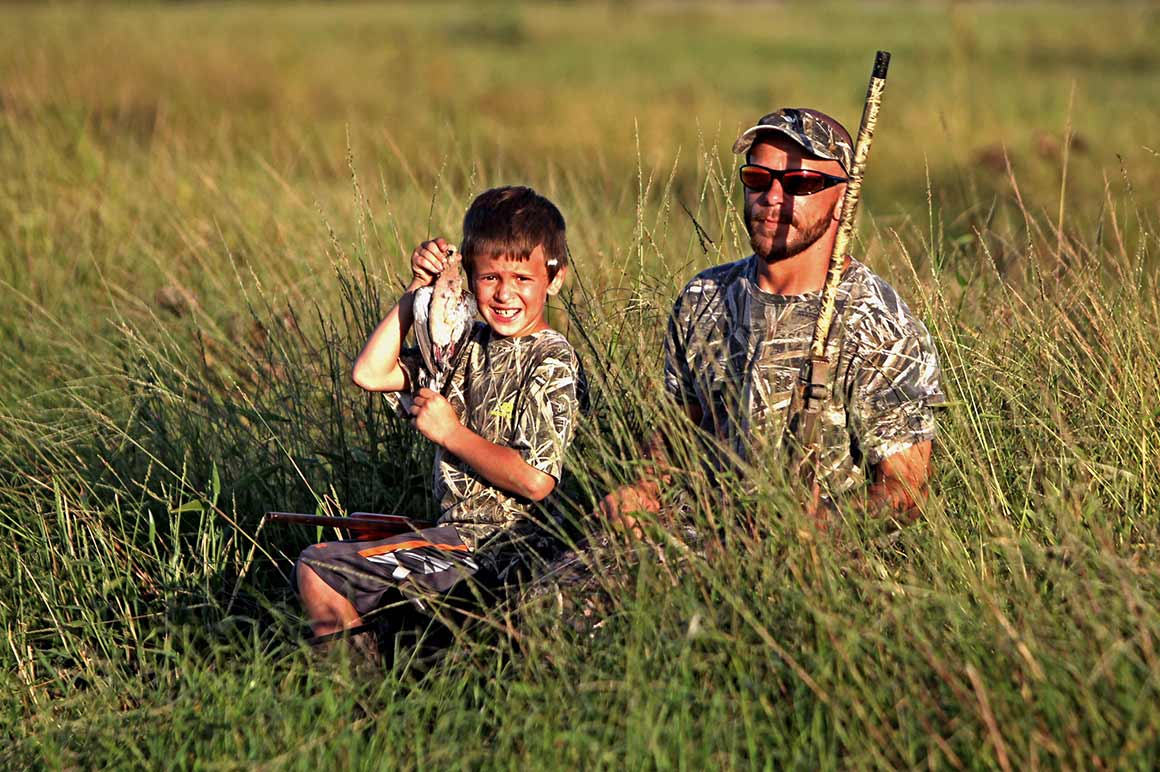 Father and son dove hunting - Credit David Sikes