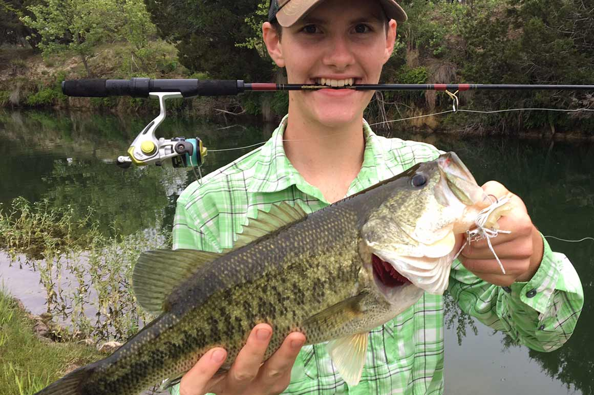 Junior angler with catch