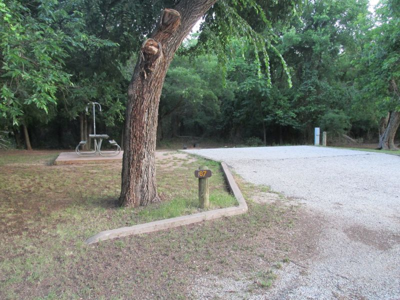 abilene state park campsites with electricity  pecan grove