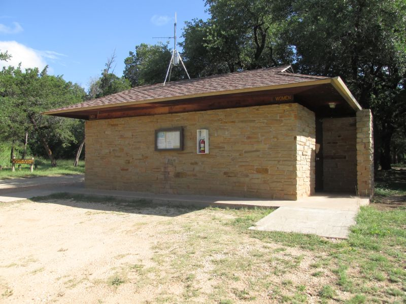 Restroom with showers in the Cedar Grove area.