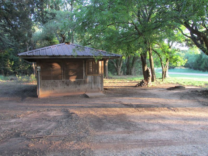 screened shelters at Abilene State Park offer a sturdy place to stay.