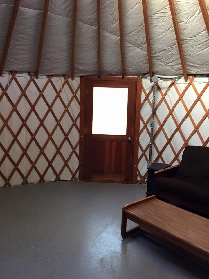 There is also a fold out sofa sleeper in the Large Yurt.