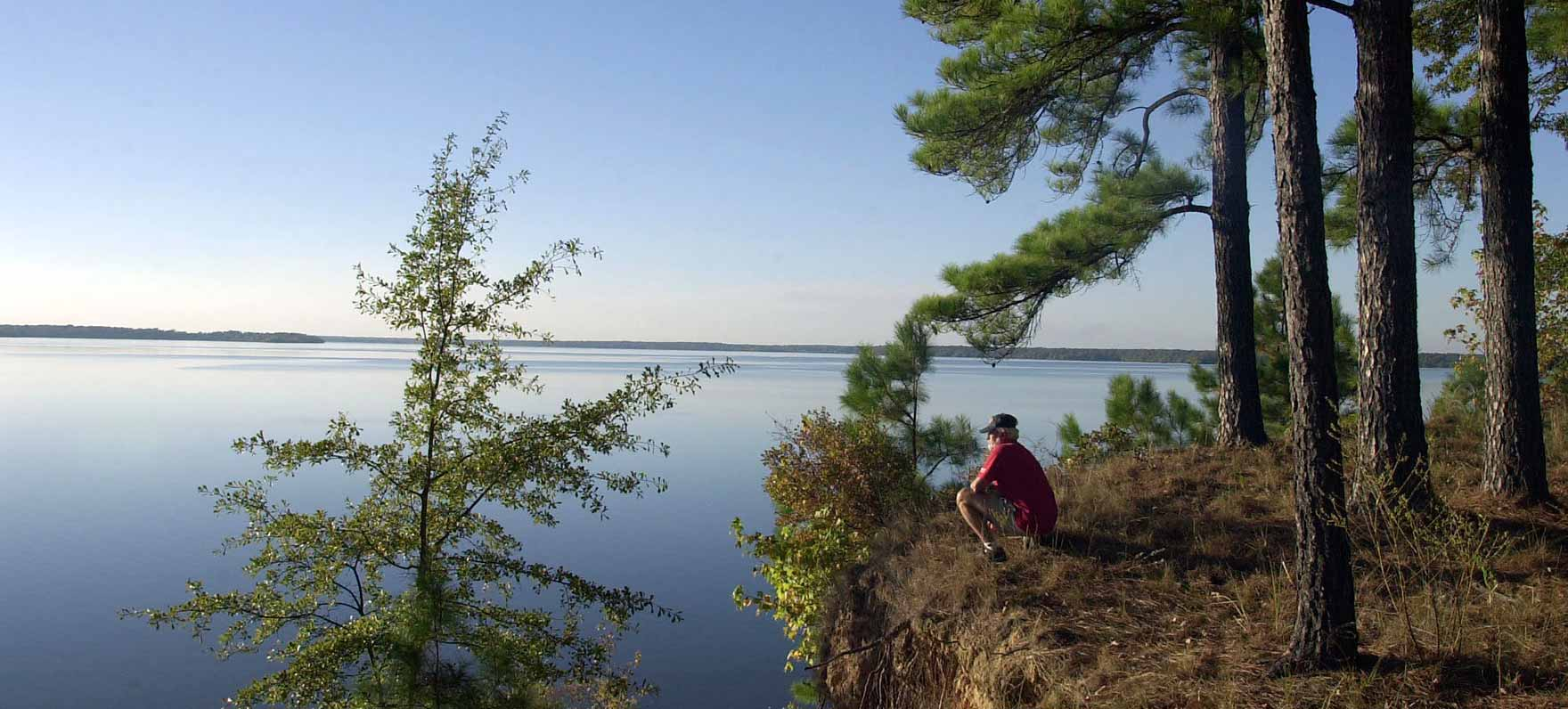Historic wagon traces and an 1800s ferry crossing are reminders of early settlers of the area. The fishing pretty is historic too, with 75-pound catfish in Wright Patman Lake.