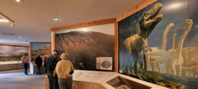 Inside the Barton Warnock Visitor Center