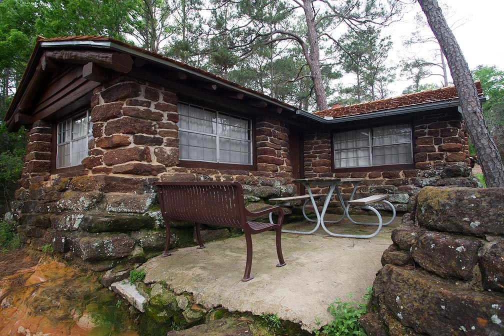 Bastrop State Park Cabin #1 exterior view.