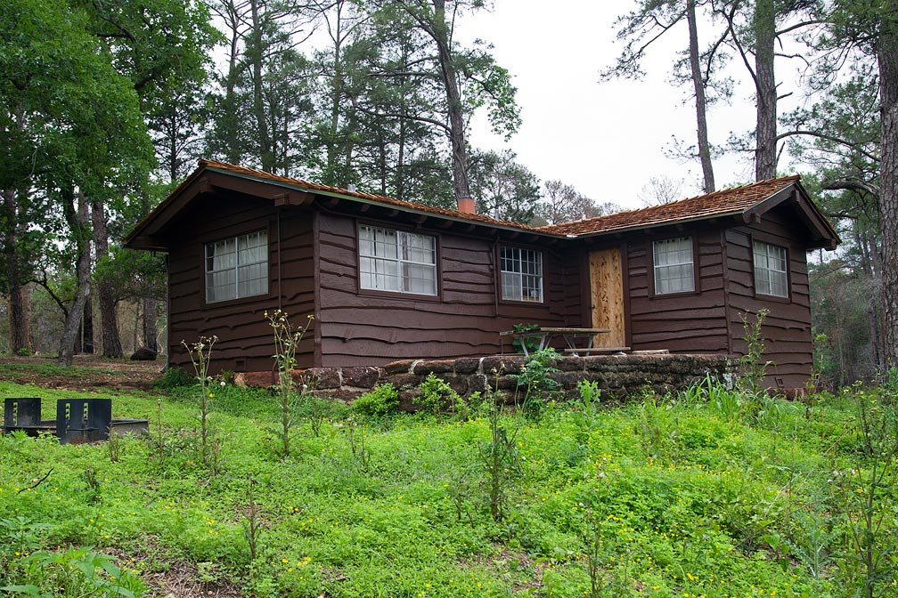 Bastrop State Park Cabin #11 exterior view.