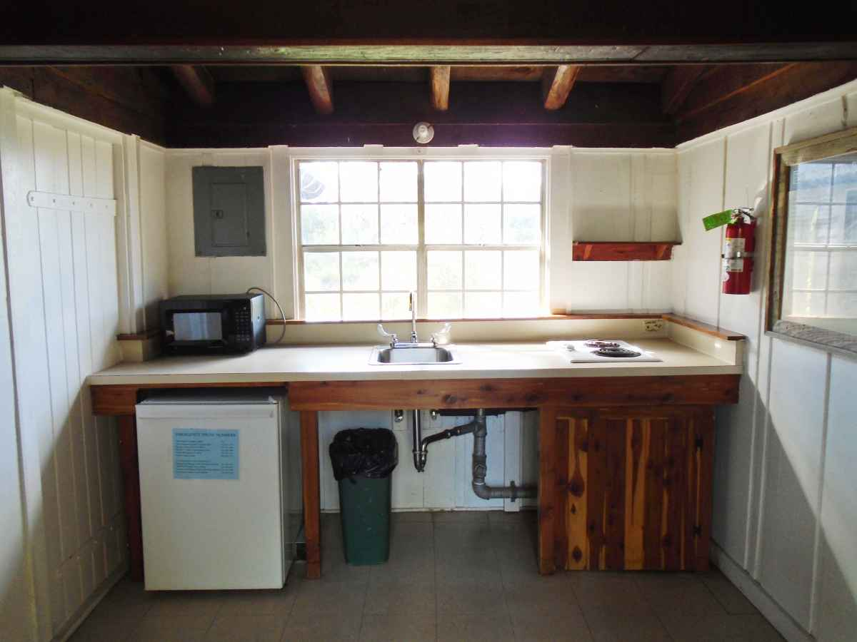 The kitchen in Cabin 11.