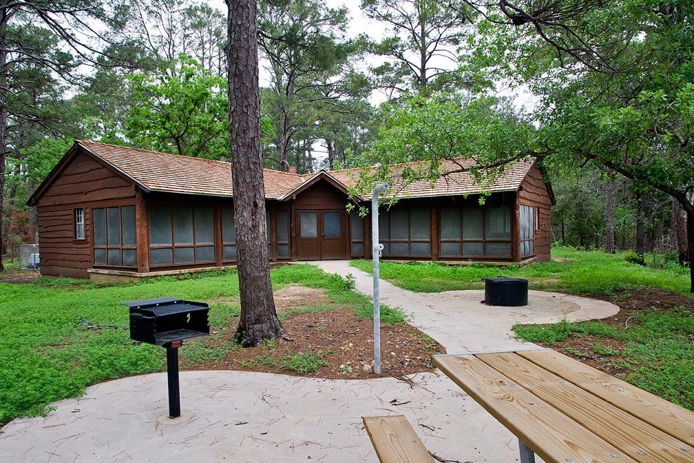 Bastrop State Park Cabin #12 exterior view.