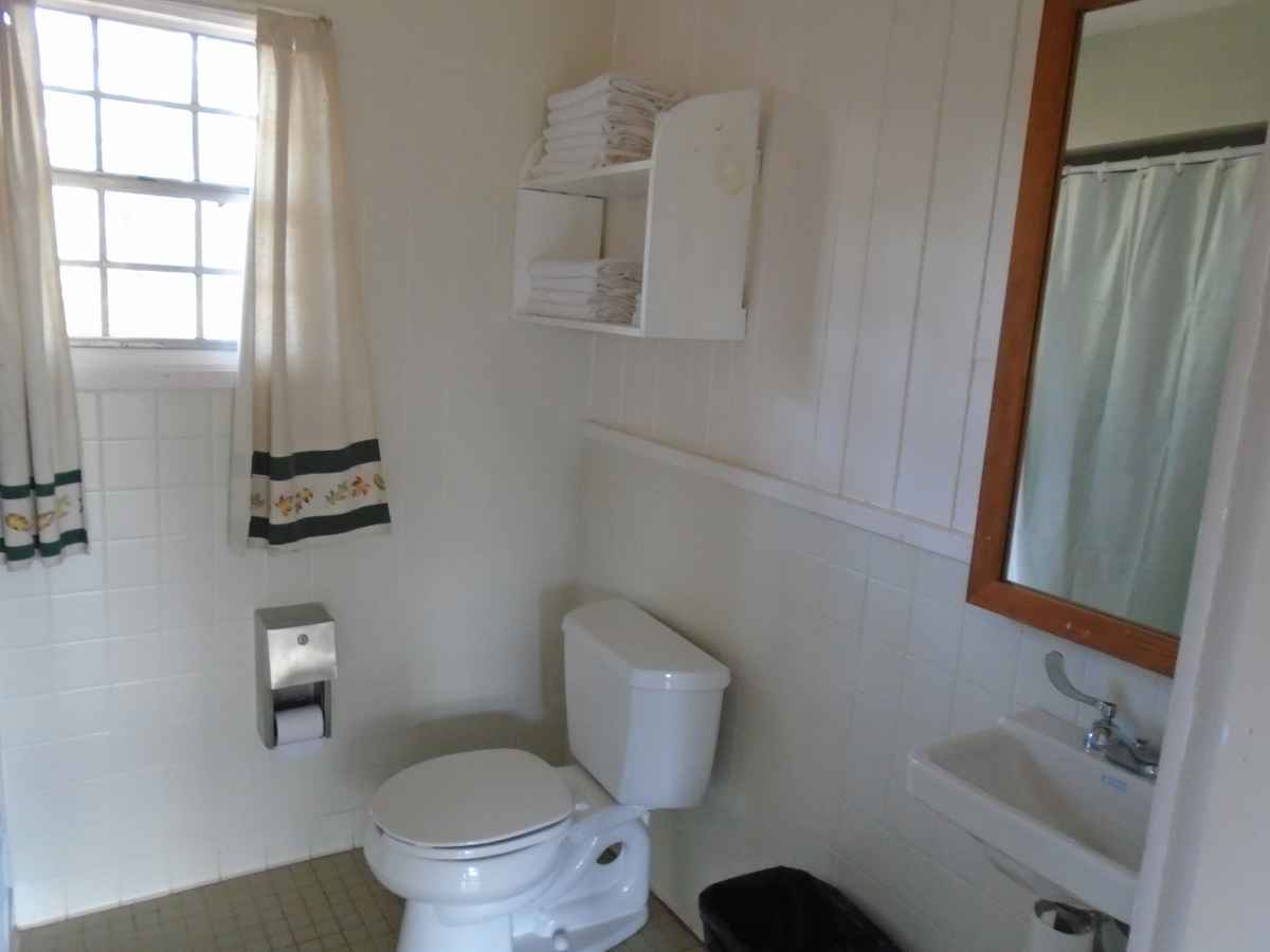 Bathroom 1 in Cabin 12.
