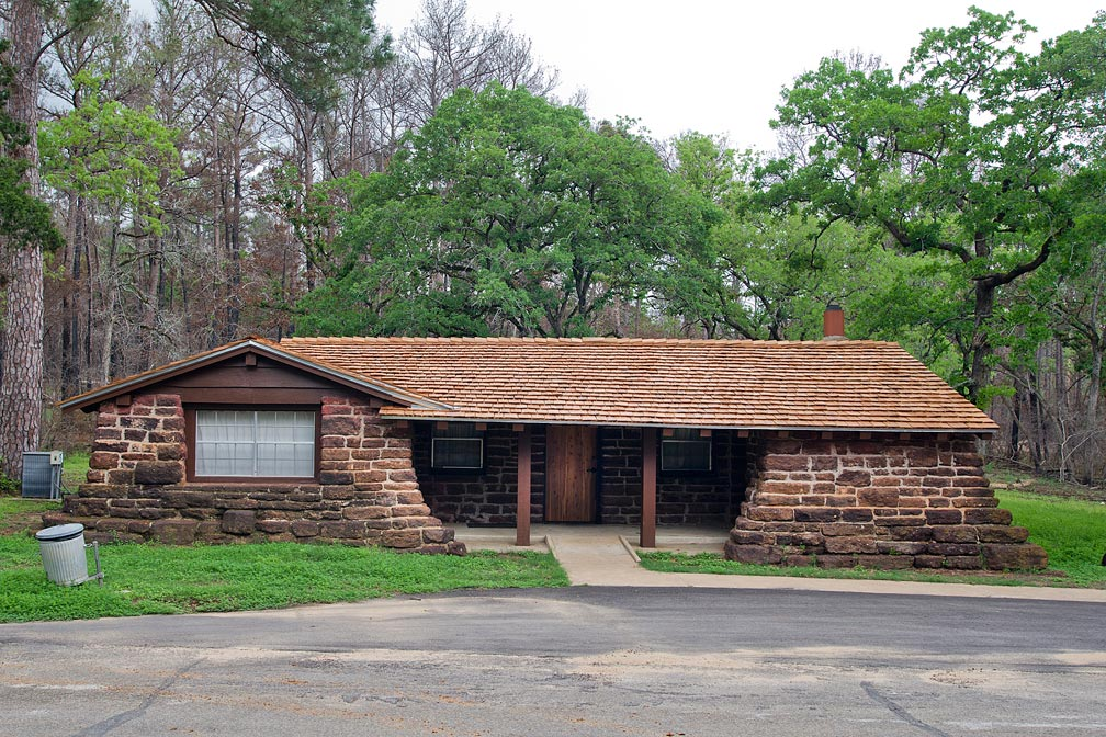 Bastrop State Park Cabin #14 exterior view.