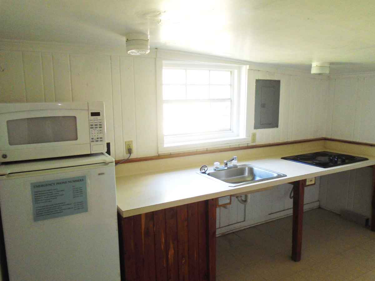 The kitchen in Cabin 14.